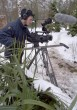 Filming 'Pass Her By' in the snow.