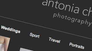 New SetSeed powered website design: Antonia Chick Photography